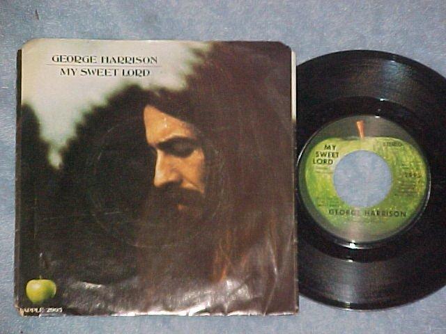 45 w/PS--GEORGE HARRISON--MY SWEET LORD--1970--VG++/VG+