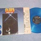 ELVIS PRESLEY-MOODY BLUE-'77 LP-Blue Vinyl-Two Stickers