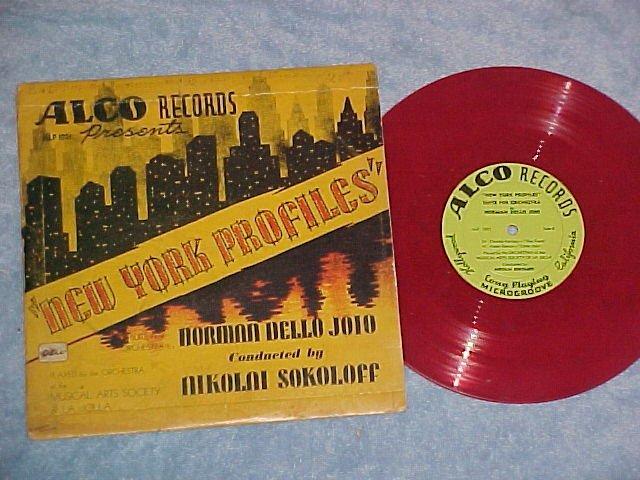 """DELLO JOIO/Sokoloff--NEW YORK PROFILES--10"""" Red LP-Alco"""