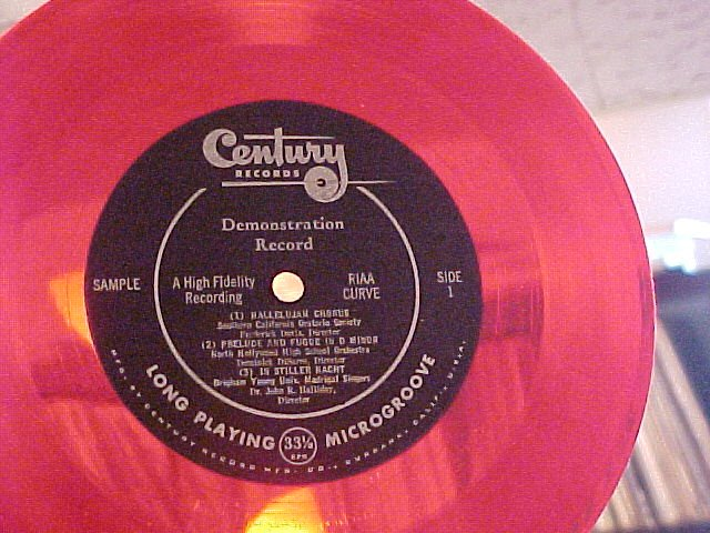 LLP/EP--CENTURY RECORDS DEMONSTRATION RECORD--Red Vinyl