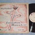 MOZART CORONATION MASS--Rare 1949 LP--Festival FLP-100