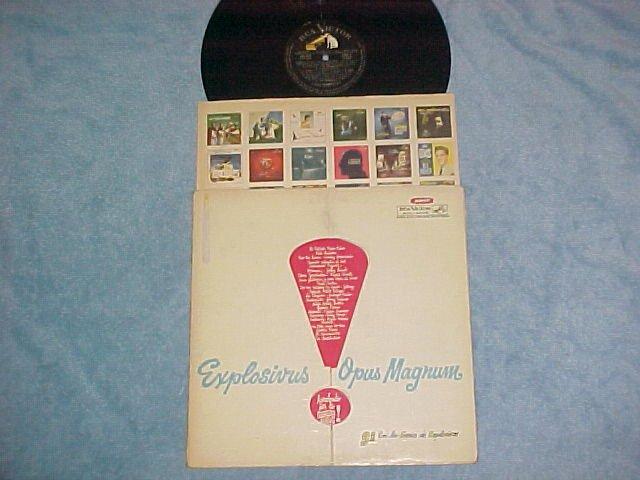 EXPLOSIVUS OPUS MAGNUM--1959 Argentina Cmpltn LP--RCA