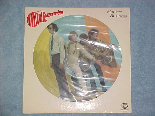 THE MONKEES--MONKEE BUSINESS--NM 1982 Picture Disc LP