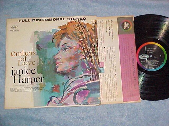 JANICE HARPER--EMBERS OF LOVE--NM/VG+ Stereo 1960 LP