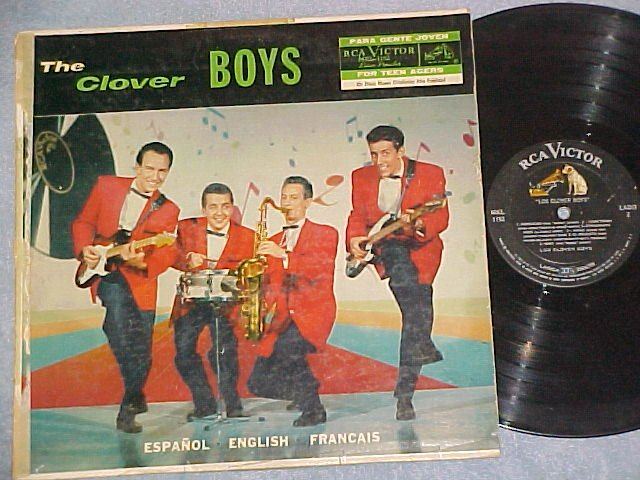 THE/LES/LOS CLOVER BOYS--s/t 1958 Mexico LP--RCA Victor