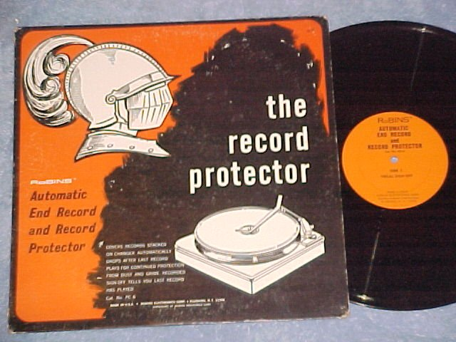THE RECORD PROTECTOR--End Record--Phonograph Accessory