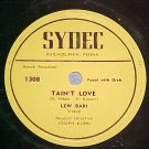 78--LEW BARI--HONESTLY/TAIN'T LOVE--Sydec 1307/8--VG++