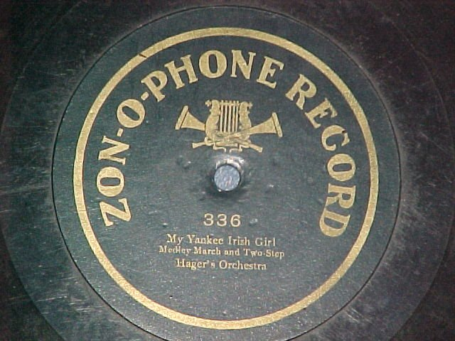 1-sided 78--Zonophone 336--HAGER'S ORCHESTRA--c.1905