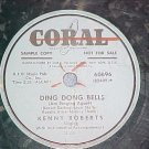 Promo 78-KENNY ROBERTS-DING DONG BELLS-1952-Coral 60696