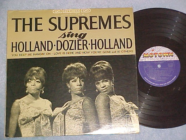 THE SUPREMES SING HOLLAND/DOZIER/HOLLAND--Stereo LP--#1