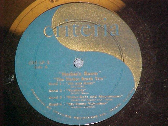 HERBIE BROCK--HERBIE'S ROOM--1957--Criteria ~No Jacket~