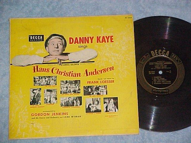 "HANS CHRISTIAN ANDERSEN--10"" VG++/VG+ Danny Kaye Sdk LP"