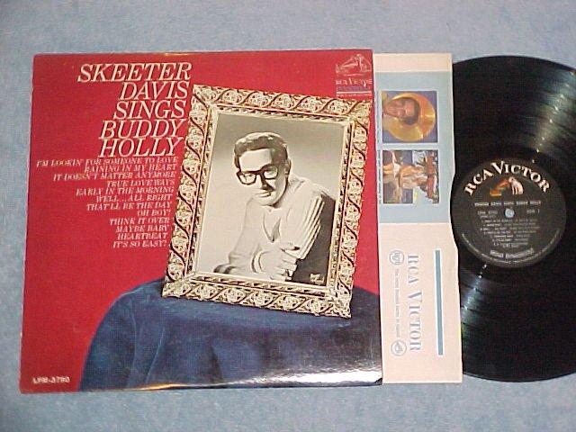 SKEETER DAVIS SINGS BUDDY HOLLY--VG+/VG++ Mono 1967 LP