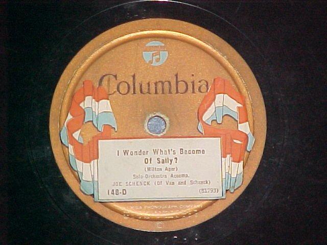 78-GUS VAN/JOE SCHENCK--Columbia 148-D--Flag label--VG+