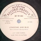 WL Promo 78-LILY ANN CAROL-LONESOME AND BLUE-RCA Victor