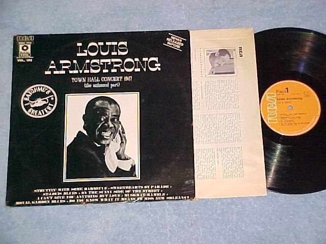 LOUIS ARMSTRONG--TOWN HALL CONCERT 1947--France LP--RCA