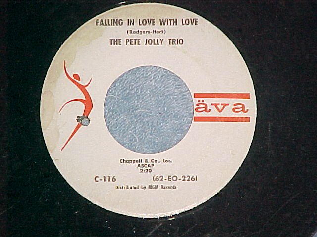 45-PETE JOLLY--FALLING IN LOVE WITH LOVE--1963--Ava--#1