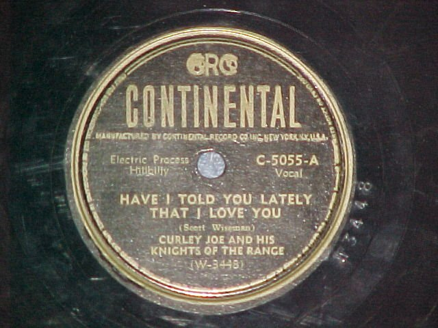78-CURLEY(Curly) JOE & KNIGHTS OF THE RANGE-Continental