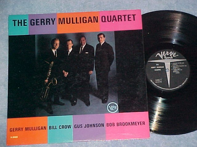 THE GERRY  MULLIGAN QUARTET--s/t 1962 LP--Verve V-8466