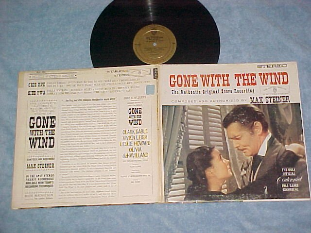 GONE WITH THE WIND--VG+ Stereo 1961 Sdk Warner Bros LP