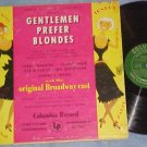 GENTLEMEN PREFER BLONDES--VG++/VG 1950 Broadway Sdk LP