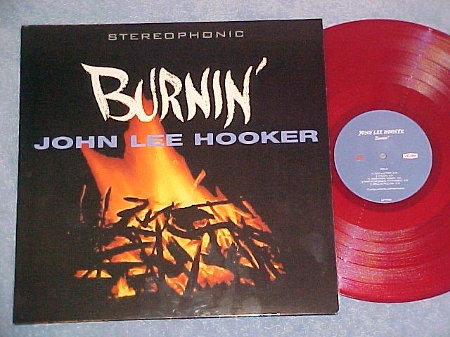 JOHN LEE HOOKER-BURNIN-NM 180gr 2000 Red Italy LP-#5of5