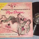 PIPE DREAM-1955 Orig Cast Sdk LP-Rare Advance Ed. Cover