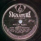 78-DICKIE WELLS ORCH.-HELLO BABE--1946--Signature 28115