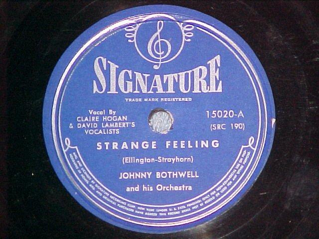 78-JOHNNY BOTHWELL-STRANGE FEELING-1945-Signature 15020