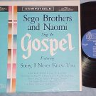SEGO BROTHERS AND NAOMI SING THE GOSPEL-NM/VG++ 1963 LP