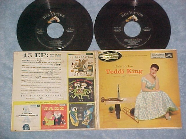 Dbl EP w/PS-TEDDI KING-BIDIN' MY TIME-1956-RCA EPB-1147