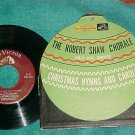 EP w/PS-ROBERT SHAW CHORALE--CHRISTMAS HYMNS AND CAROLS