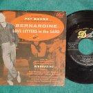 45 w/PS--PAT BOONE--BERNARDINE--1957--Dot 15570--VG++