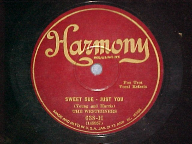 78--THE WESTERNERS/THE HARMONIANS--1928--Harmony 638-H