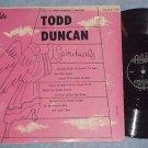 "TODD DUNCAN--SPIRITUALS--10"" VG+ 1956 LP--Royale 1810"