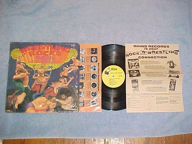WRESTLING ROCKS-NM/VG++1985 LP w/Insert-WWF Rock n Roll
