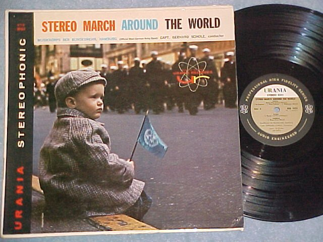 STEREO MARCH AROUND THE WORLD--VG++/VG+ 1959 Urania LP