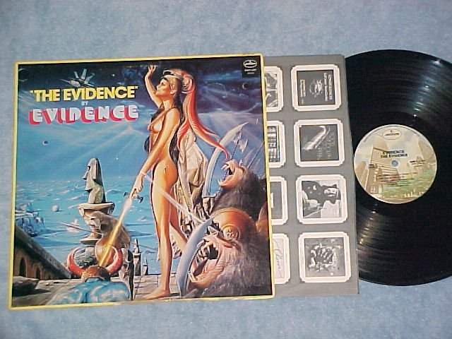 EVIDENCE-THE EVIDENCE-NM/VG+ 1979 Disco LP ~Nude Cover~