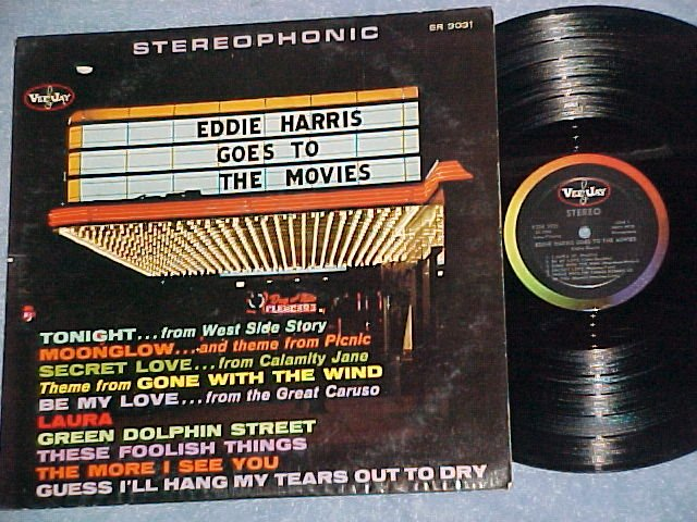 EDDIE HARRIS GOES TO THE MOVIES-VG+/VG++ Stereo 1962 LP