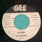 45--THE CLEFTONES--HEY BABE--1957--Gee 1041--WL Promo