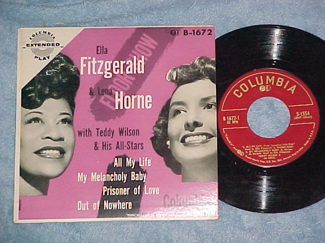 EP w/PS-ELLA FITZGERALD AND LENA HORNE-Columbia-NM/VG++