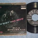 EP w/PS-ELLA FITZGERALD-SWEET AND HOT-Pt 1--1956--Decca