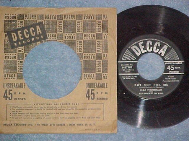45-ELLA FITZGERALD-BUT NOT FOR ME-1951-Decca 27369-VG++