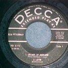 EP--ELLA FITZGERALD--LULLABIES OF BIRDLAND--Decca--VG++