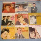 LOT of (9) 45rpm PICTURE SLEEVES:1958-1962-Rock 'N Roll