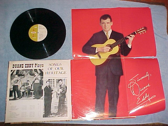 DUANE EDDY PLAYS SONGS OF OUR HERITAGE--VG+ LP w/POSTER