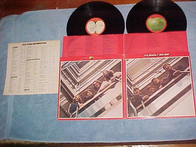 THE BEATLES-1962-1966--VG++/VG+ 1973 Dbl Album w/Insert