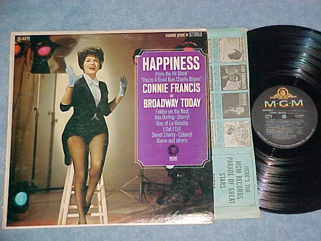 CONNIE FRANCIS ON BROADWAY TODAY-Capitol Record Club LP