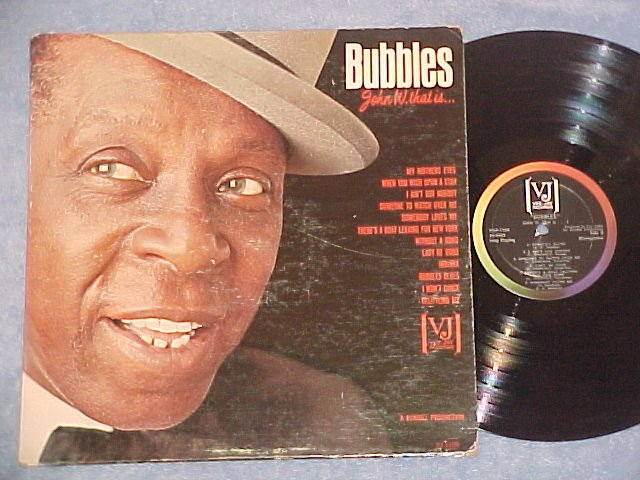 JOHN W. BUBBLES THAT IS--NM/VG+ 1964 LP--Vee-Jay 1109