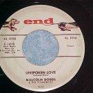 45-MALCOLM DODDS & TUNEDROPS-UNSPOKEN LOVE-1958-End-VG+
